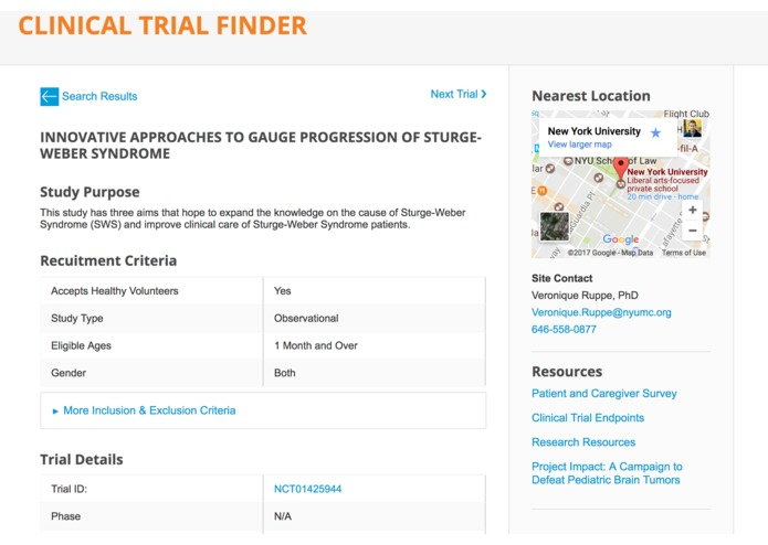 Clinical Trial Finder – screenshot 2