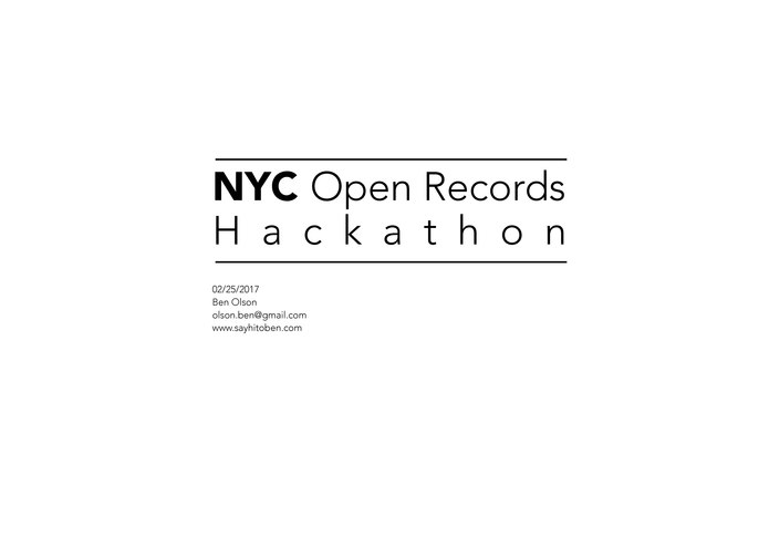 Open Records Hackathon: Ben Olson vs. Challenge 1 – screenshot 1