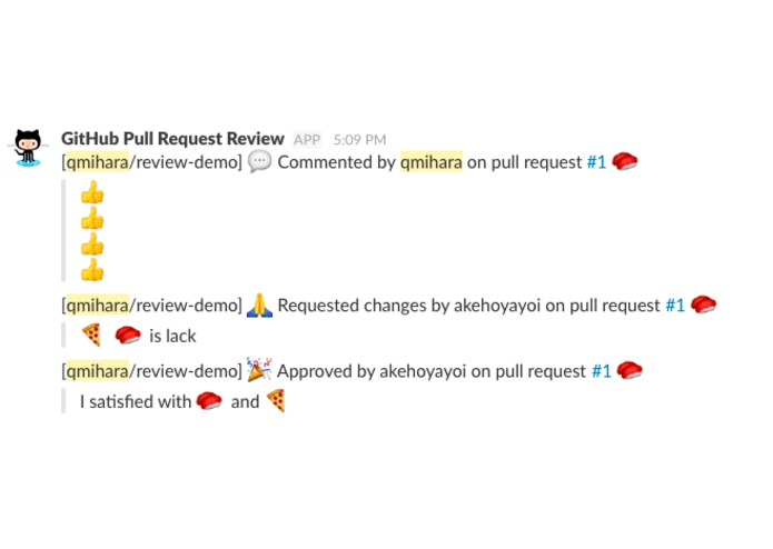 GitHub Pull Request Review Webhook (torimeshi) – screenshot 1
