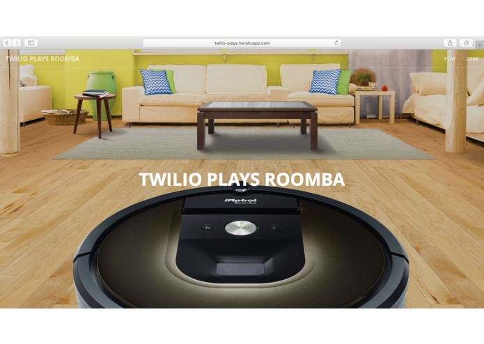 TwilioPlaysRoomba – screenshot 1