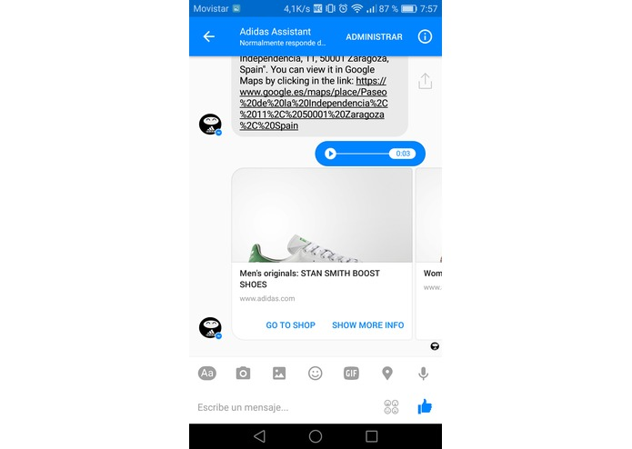 Adidas Assistant – screenshot 4