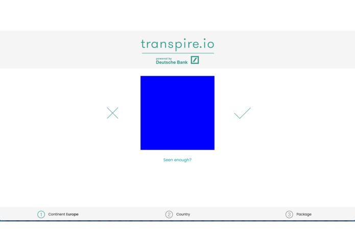 transpire.io – screenshot 2