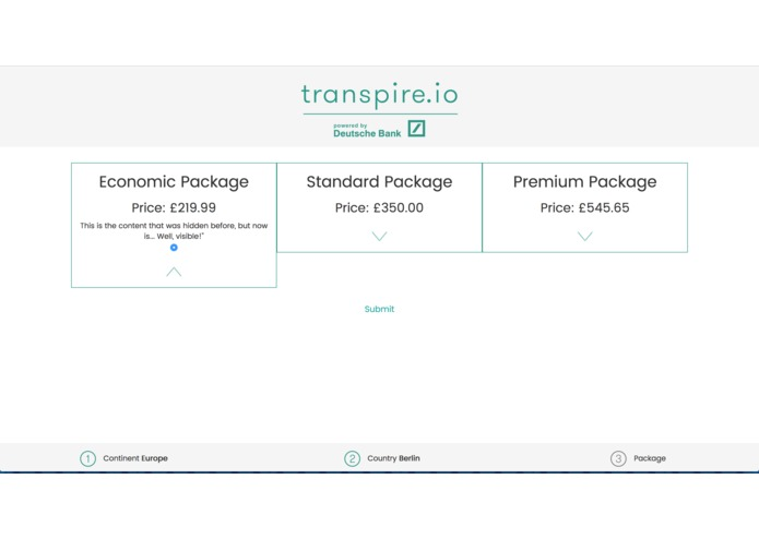 transpire.io – screenshot 4