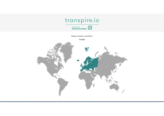 transpire.io – screenshot 1