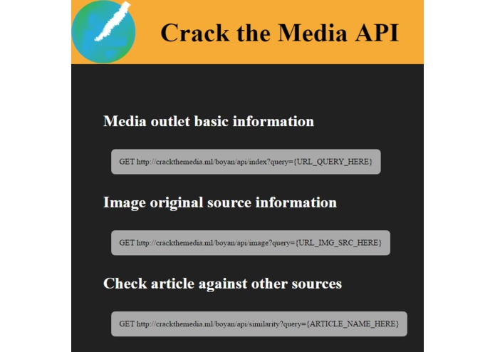 Crack the Media API – screenshot 1