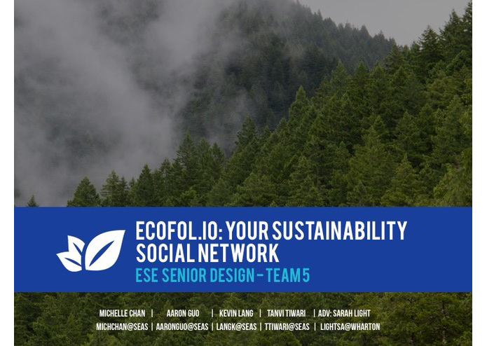 Team 05 - Ecofolio – screenshot 1