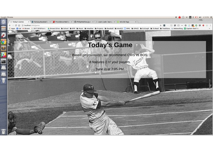 Fantasy Baseball Game Recommender – screenshot 3