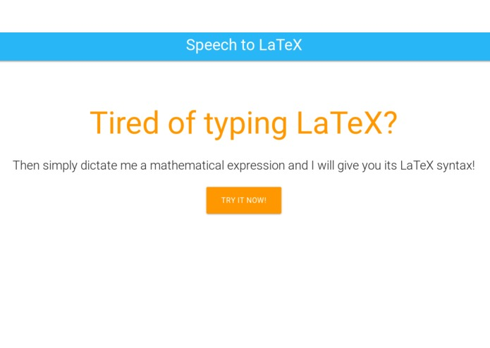 Speech-to-LaTeX – screenshot 1