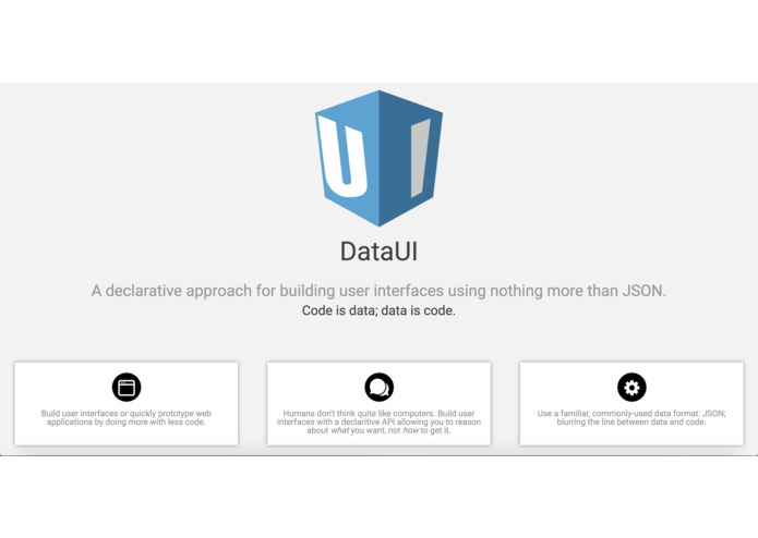 DataUI – screenshot 2