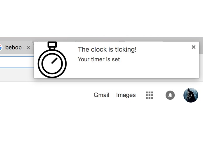 Timer Extension for Google Chrome – screenshot 2