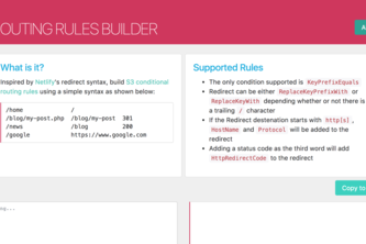 S3-Routing-Rules-Builder