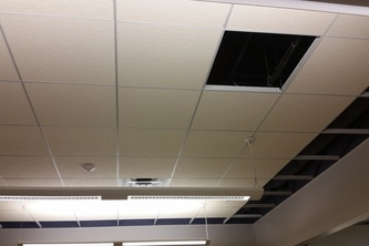 The case of the missing ceiling tile