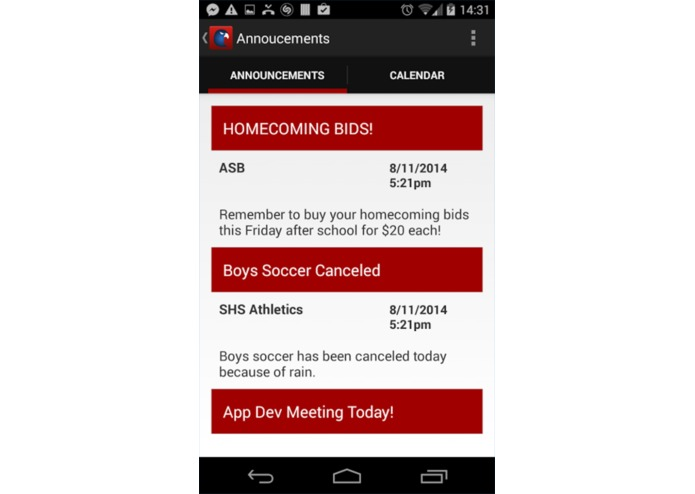 SHS App – screenshot 3