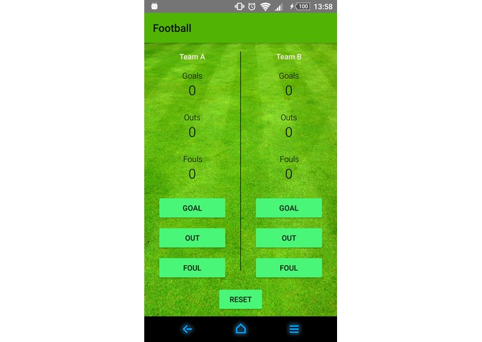 Football app – screenshot 1