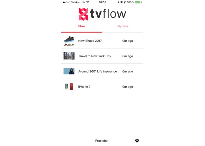 TV Flow App, Alexa Skill and Backend – screenshot 3