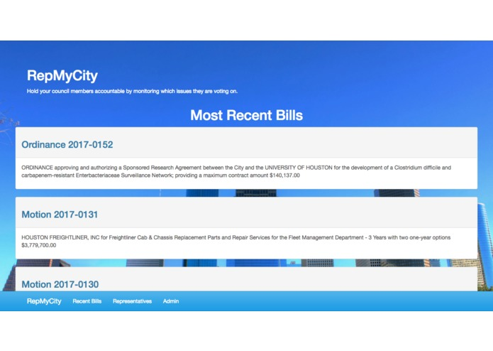 RepMyCity – screenshot 1