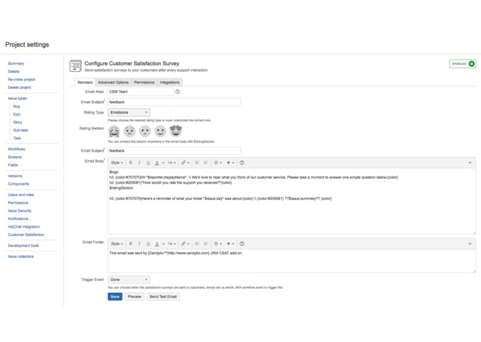Customer Satisfaction Survey for JIRA – screenshot 4