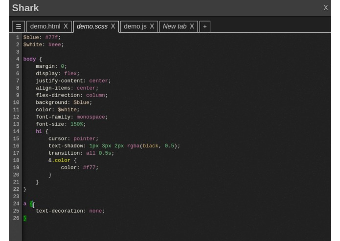 Shark Text Editor – screenshot 3