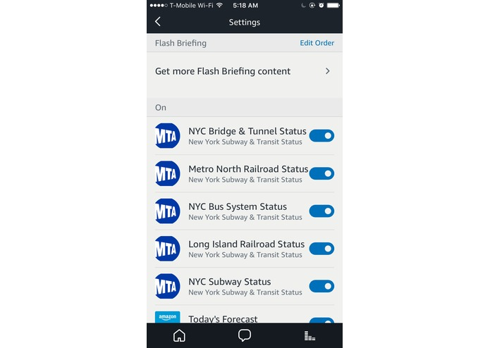 NYC Subway & Transit Status Flash Briefing – screenshot 1