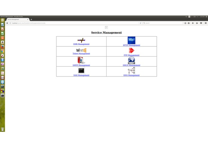 Network management console panel – screenshot 1