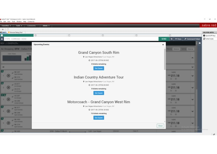 Upcoming Events (Plugin for Sabre Red Workspace) – screenshot 4