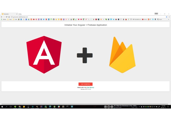 Angular Firebase Initiliazer – screenshot 1