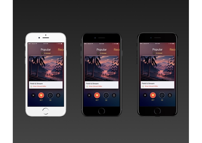 iOS Streaming Music App – screenshot 1