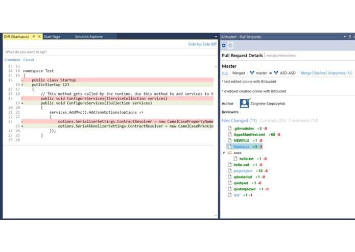 Bitbucket for Visual Studio – screenshot 4