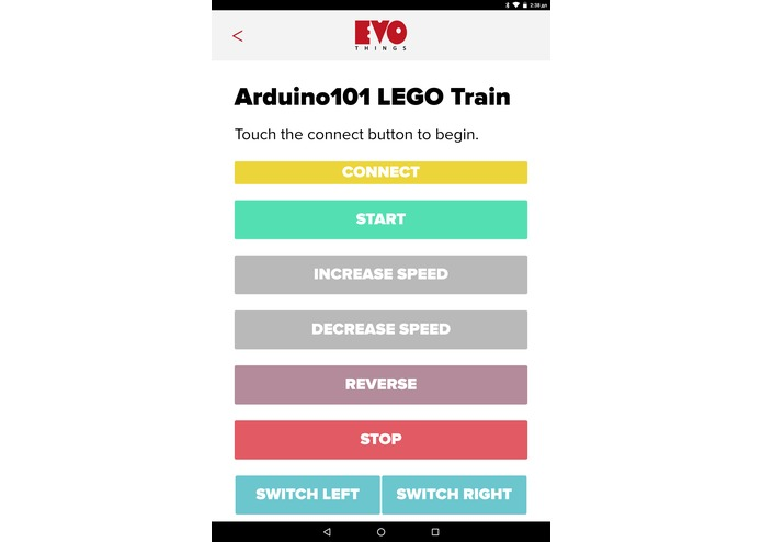 Arduino Lego Train – screenshot 1