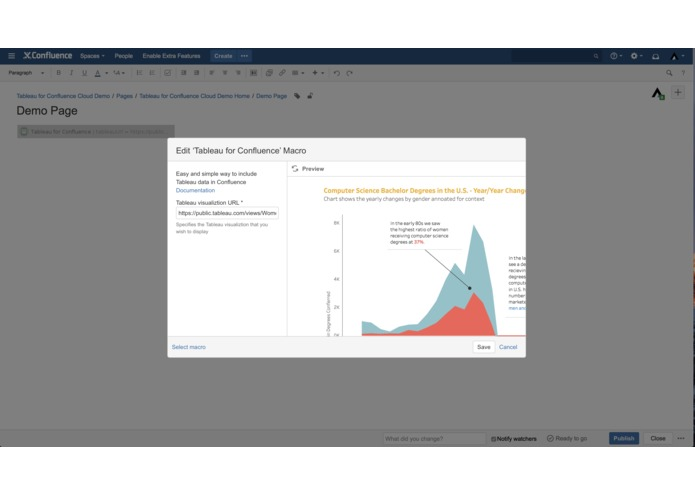 Tableau for Confluence – screenshot 2