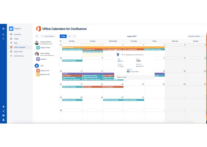 Office Calendars for Confluence – screenshot 2