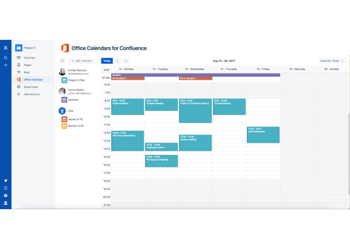 Office Calendars for Confluence – screenshot 3