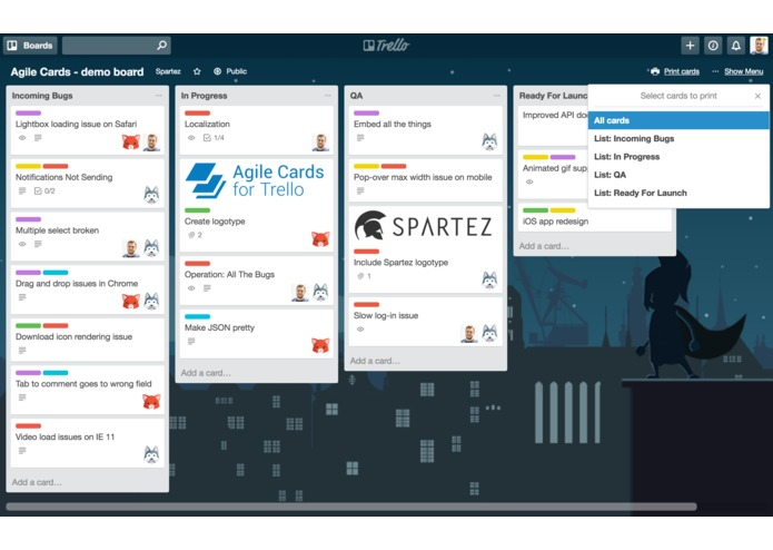 Agile Cards for Trello – screenshot 1