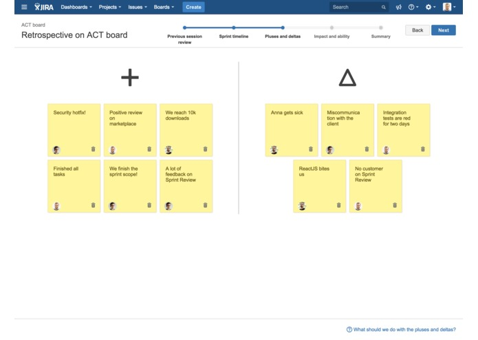 Agile Retros for JIRA – screenshot 2