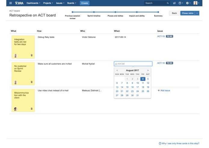 Agile Retros for JIRA – screenshot 4