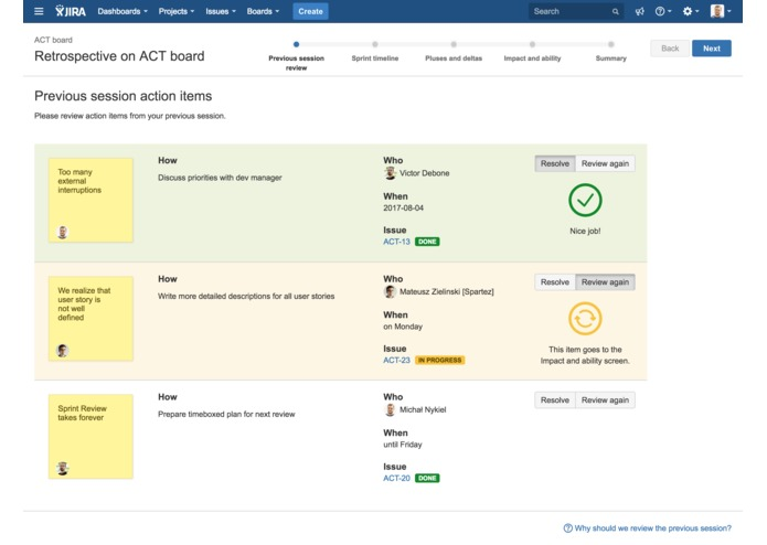 Agile Retros for JIRA – screenshot 5