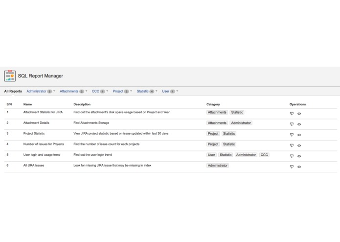 SQL Reporter for JIRA – screenshot 7