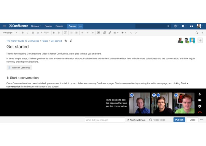 Conversations Video Chat for Confluence – screenshot 2