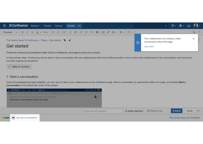 Conversations Video Chat for Confluence – screenshot 4