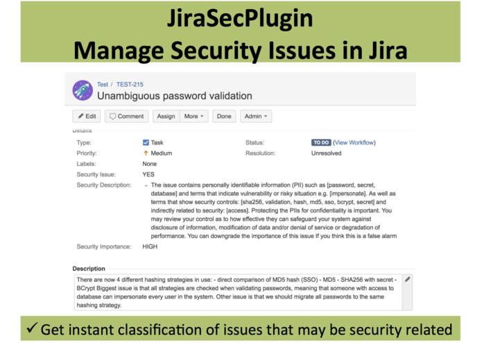 JiraSecPlugin – screenshot 1