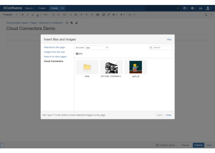 Cloud Connectors for Confluence – screenshot 10