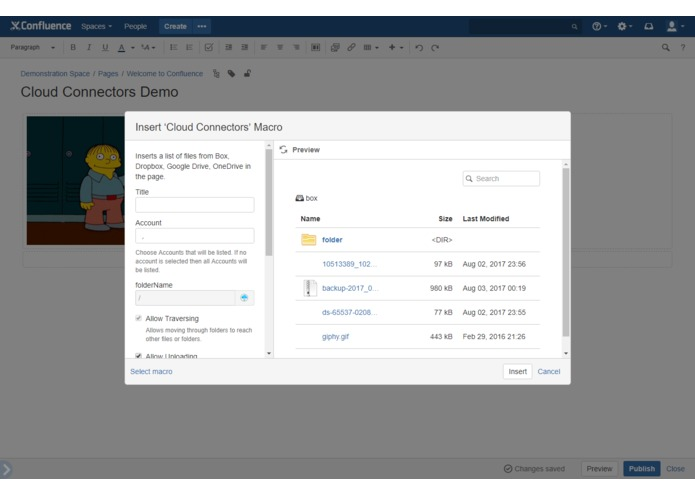Cloud Connectors for Confluence – screenshot 14