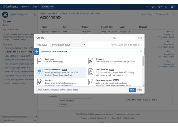 Cloud Connectors for Confluence – screenshot 16