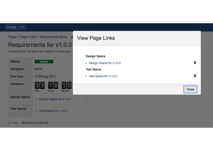 Page Linkers for Confluence – screenshot 5