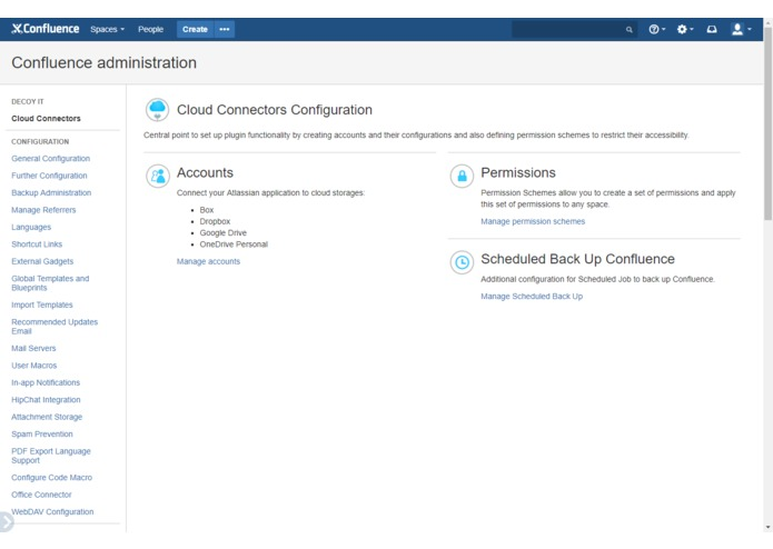 Cloud Connectors for Confluence – screenshot 2