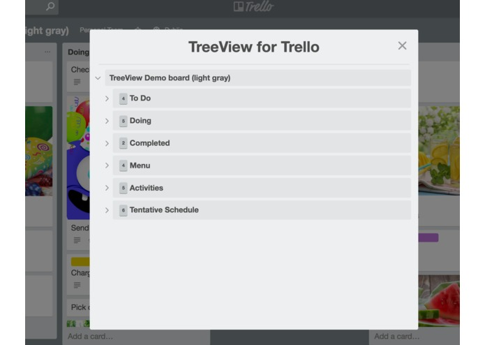 TreeView for Trello – screenshot 4