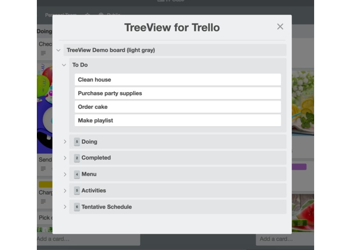 TreeView for Trello – screenshot 5