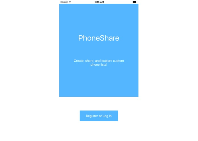 PhoneShare – screenshot 1
