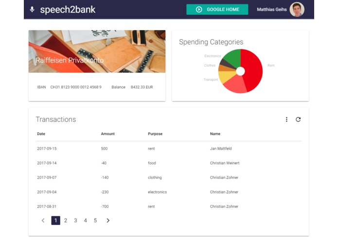 Speech2Bank – screenshot 1