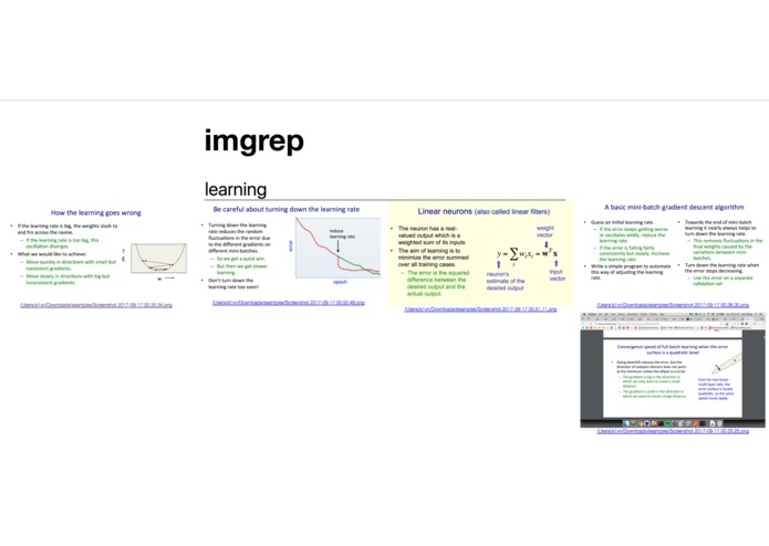 imgrep – screenshot 3